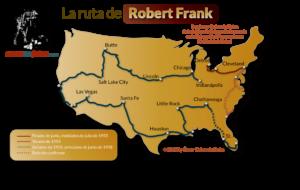 Ruta del viaje por USA de Robert Frank en The Americans