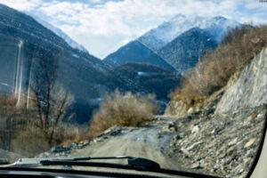 Carretera y camino Usghuli en Georgia
