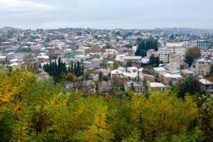 Vista ciudad Kutaisi Otoño