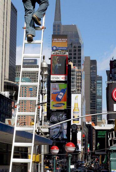 Fotografía de viajes de Nick Turpin en Nueva York mostrando Times Square
