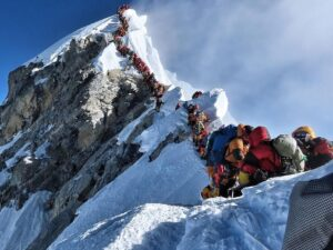 Cola turistas Everest