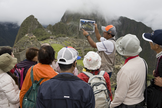 Fotografía y viajes con Martin Parr turistas Machu Pichu