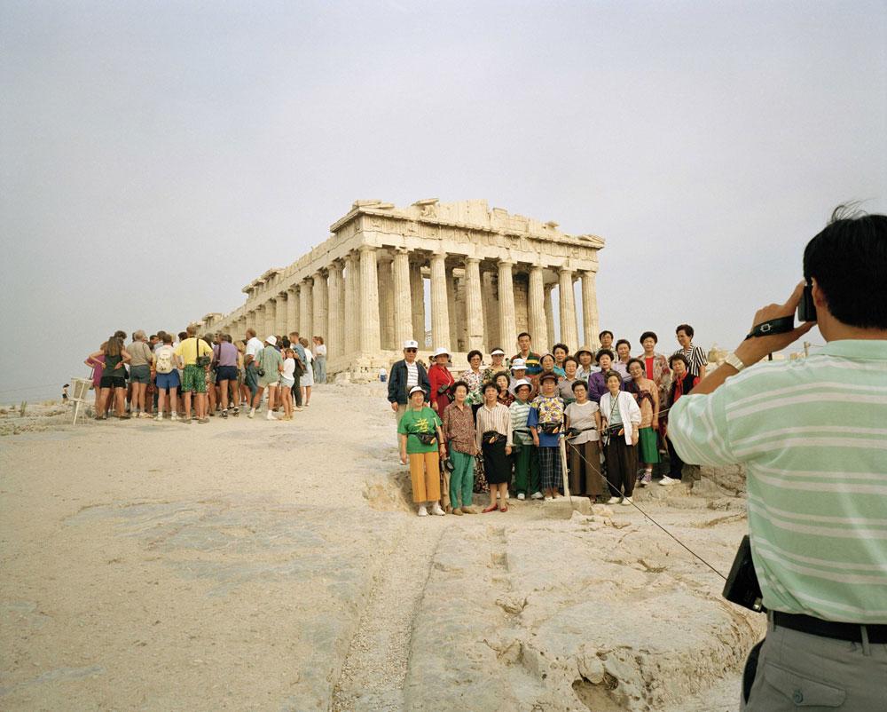 Fotografía y viajes con Martín Parr. Acrópolis. Grecia.