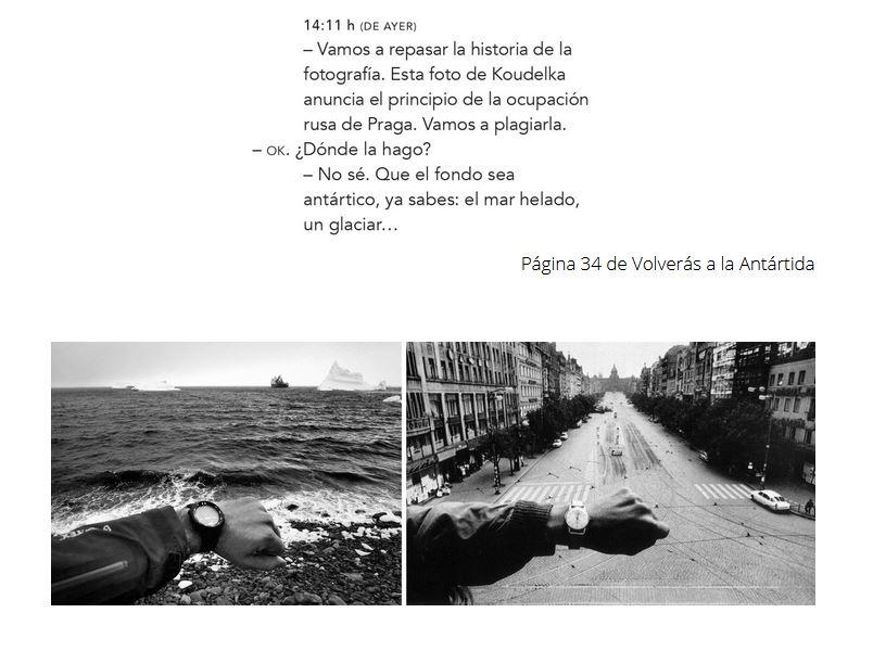 Fotografía plagio de Koudelka en Volverás a la Antártida.